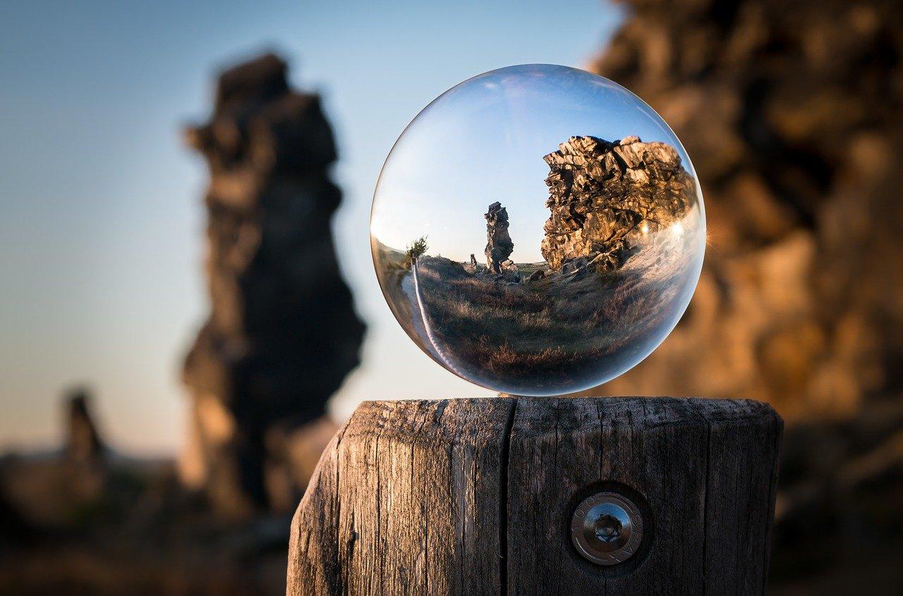 glass ball, devil's wall, creation